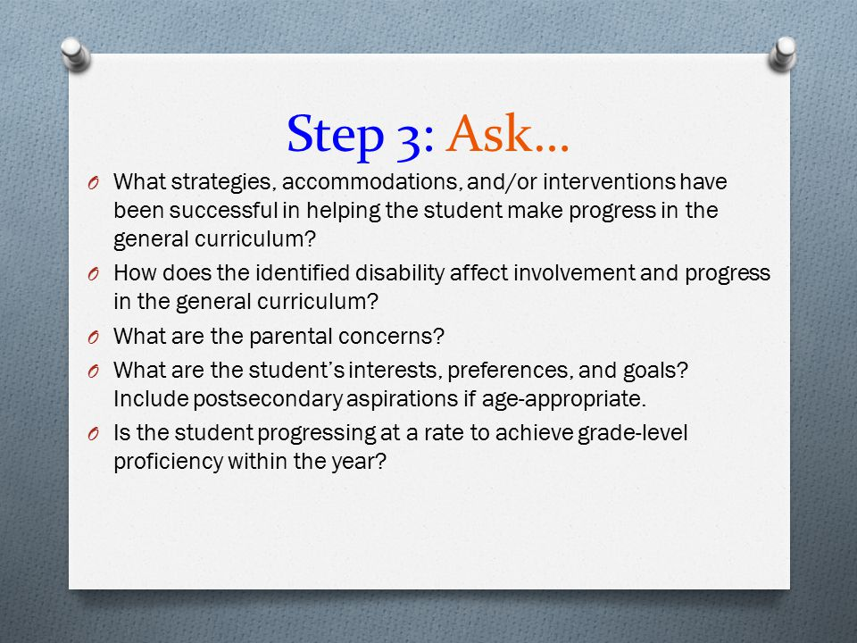 Step 3: Ask…
