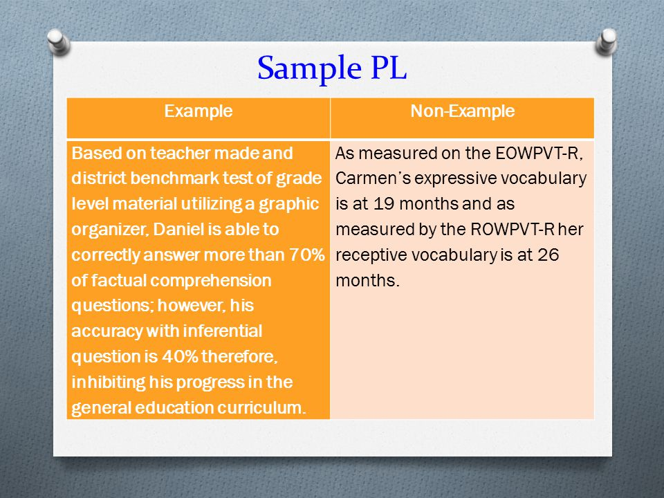 Sample PL Example Non-Example