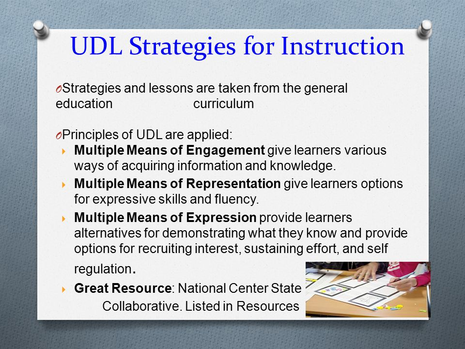 UDL Strategies for Instruction