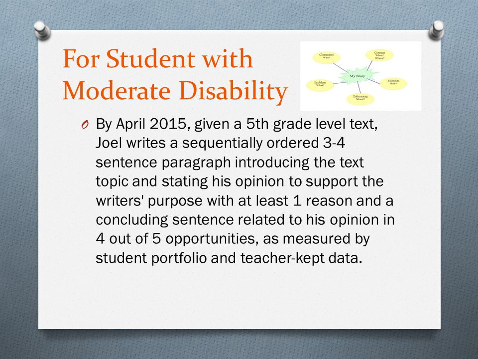 For Student with Moderate Disability