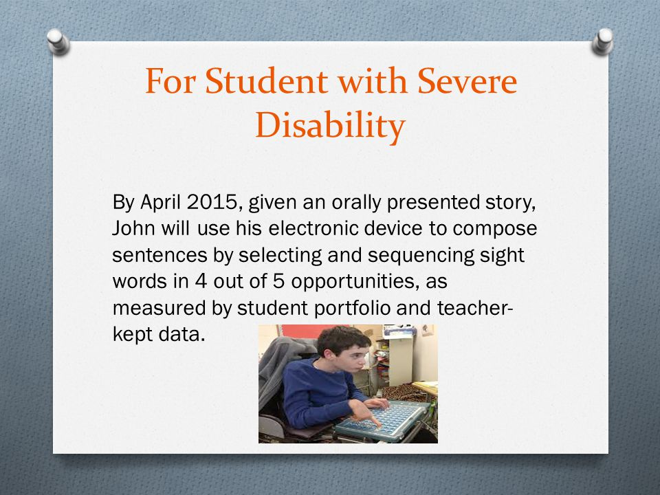 For Student with Severe Disability