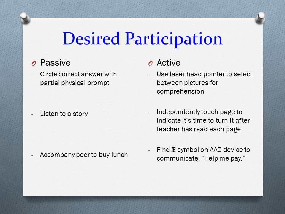 Desired Participation