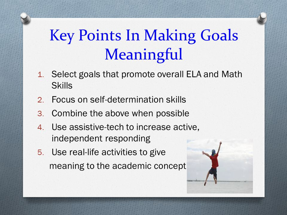Key Points In Making Goals Meaningful