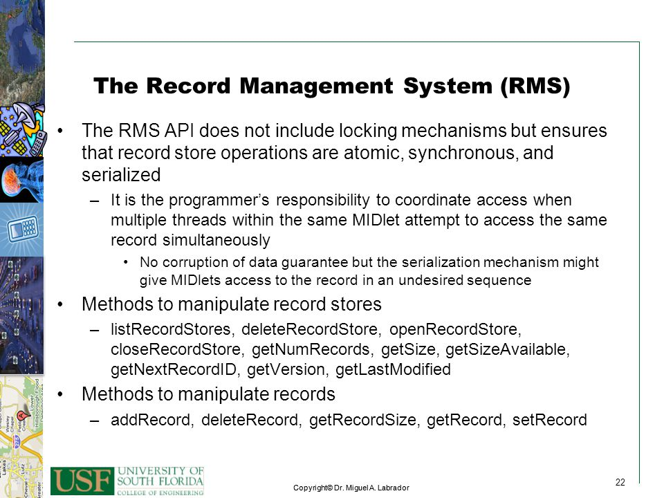 The Record Management System (RMS)