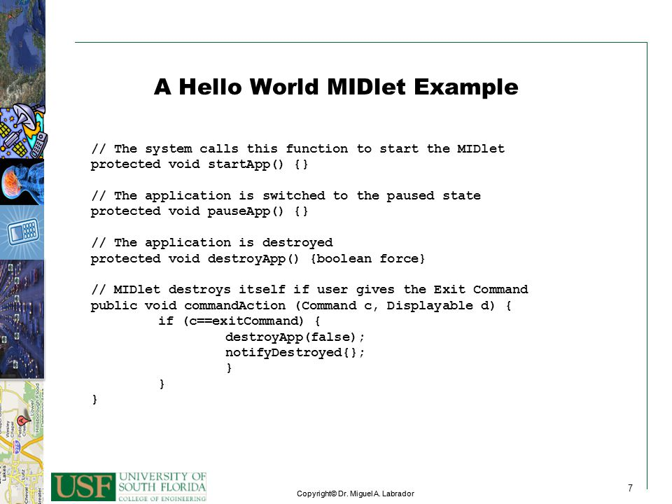 A Hello World MIDlet Example