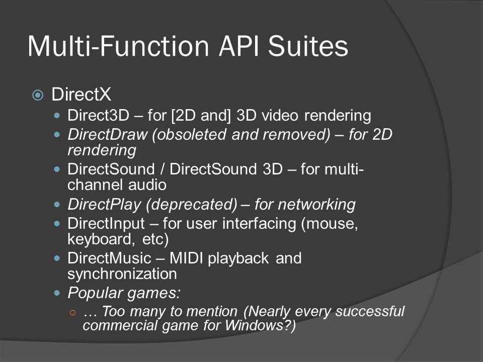 Multi-Function API Suites
