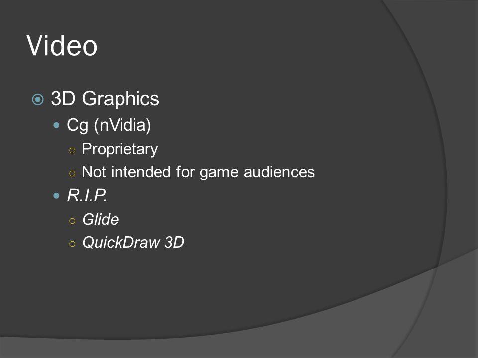 Video 3D Graphics Cg (nVidia) R.I.P. Proprietary