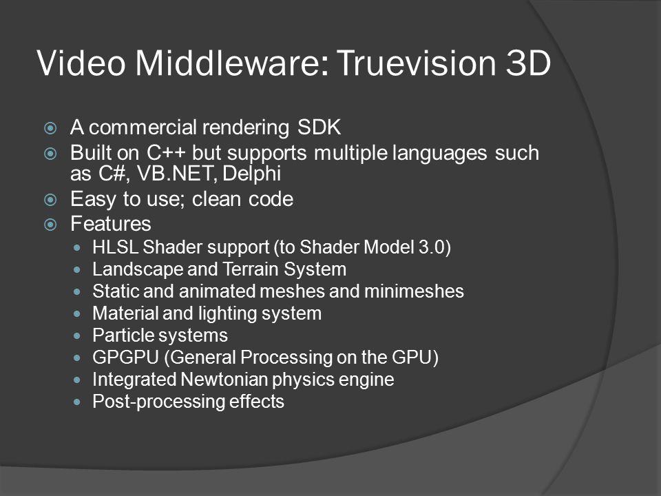 Video Middleware: Truevision 3D