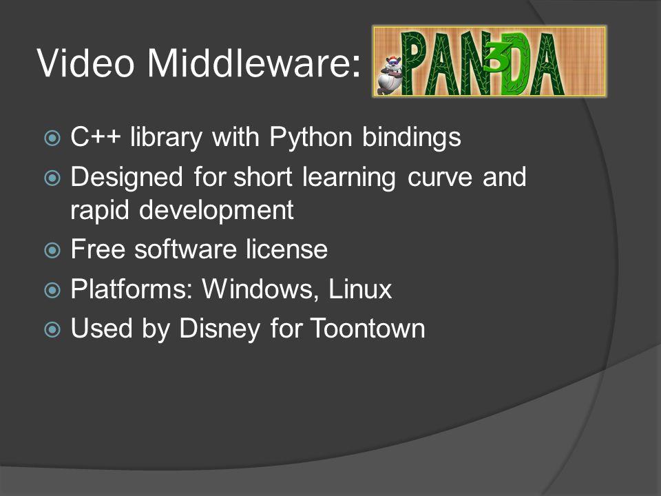 Video Middleware: C++ library with Python bindings