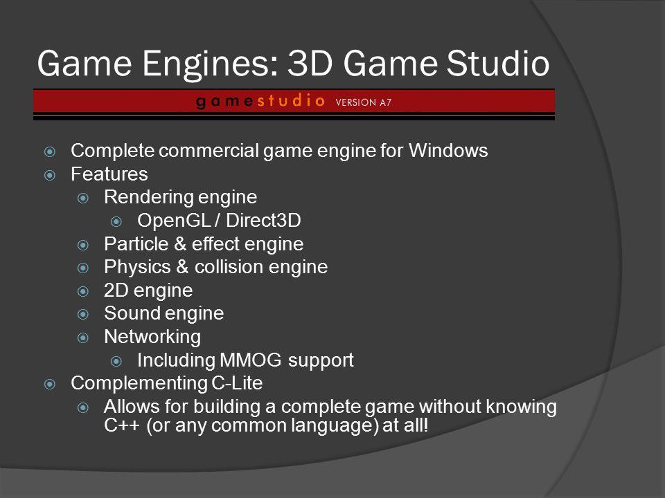 Game Engines: 3D Game Studio