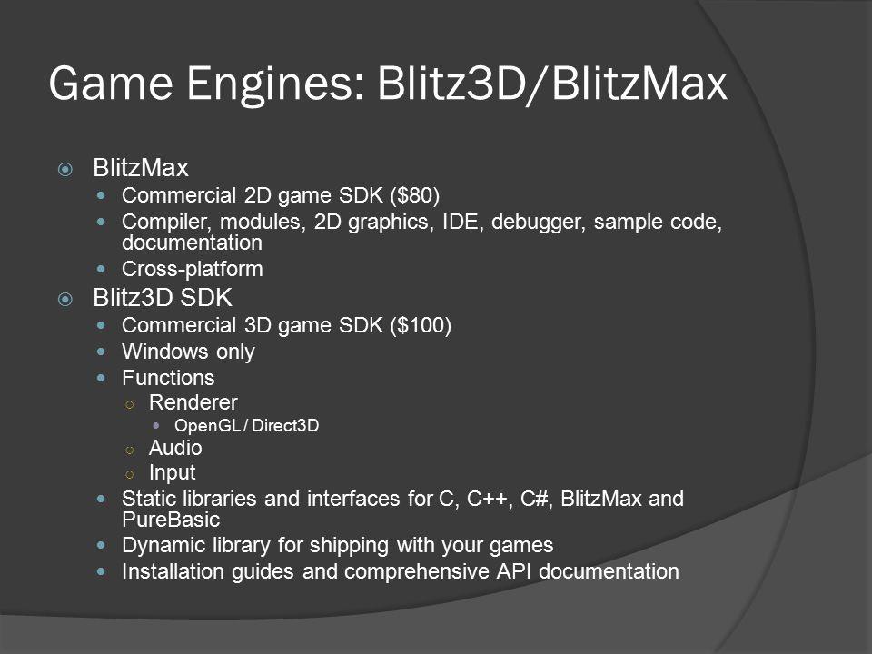 Game Engines: Blitz3D/BlitzMax