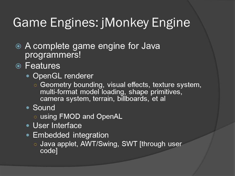 Game Engines: jMonkey Engine