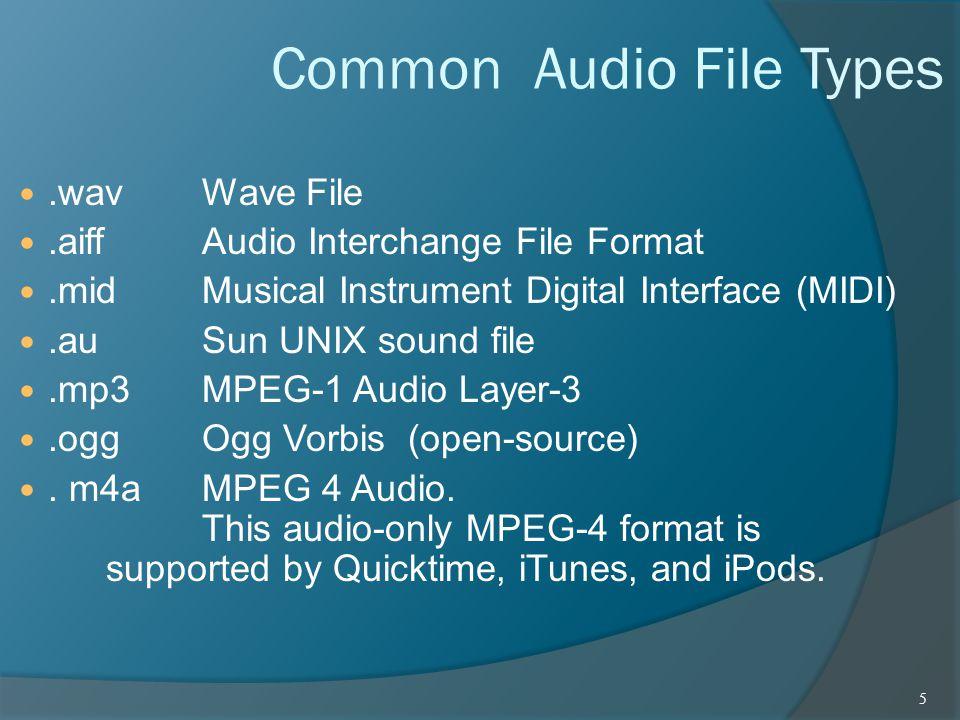 Common Audio File Types