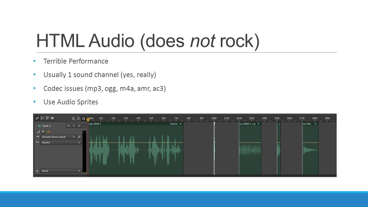 HTML Audio (does not rock)