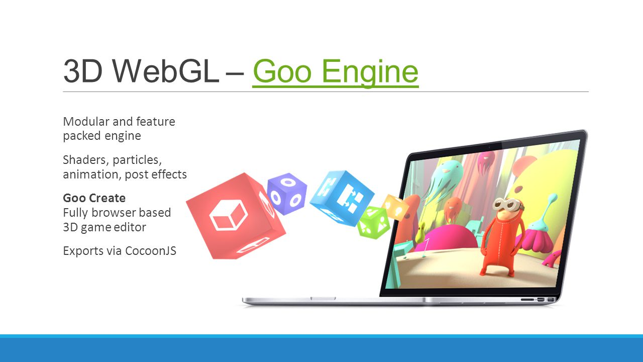 3D WebGL – Goo Engine Modular and feature packed engine