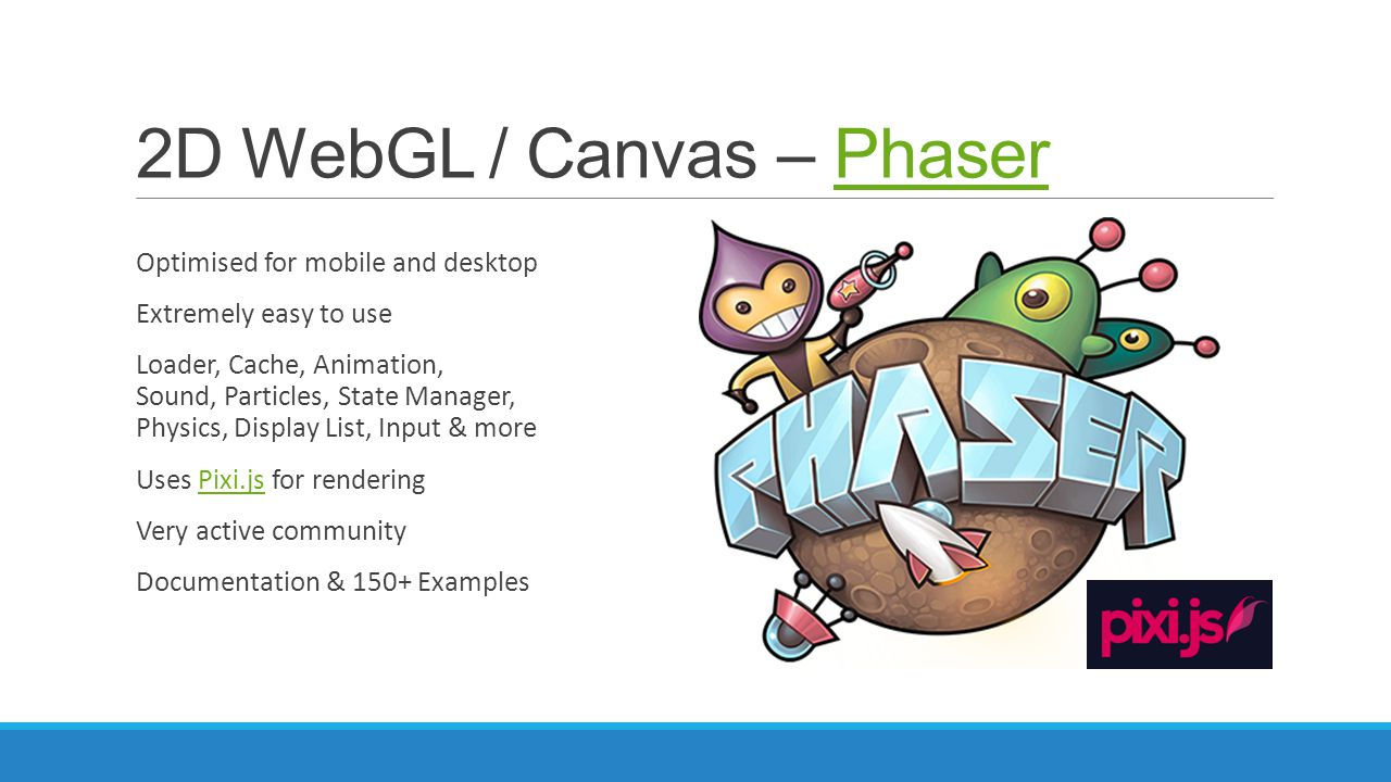 2D WebGL / Canvas – Phaser