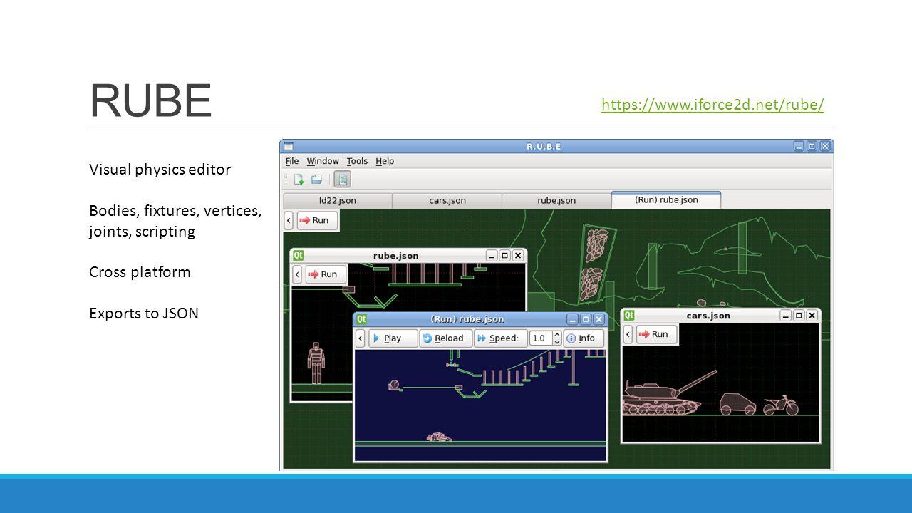 RUBE https://www.iforce2d.net/rube/ Visual physics editor