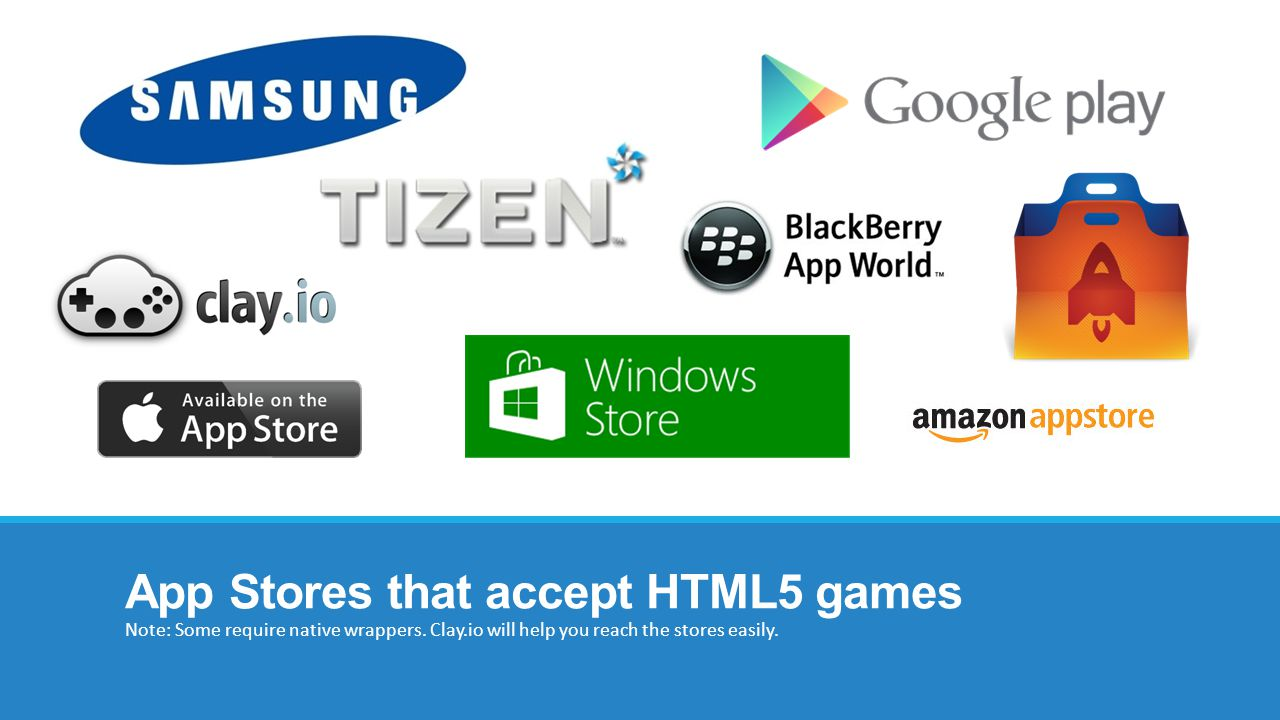 App Stores that accept HTML5 games