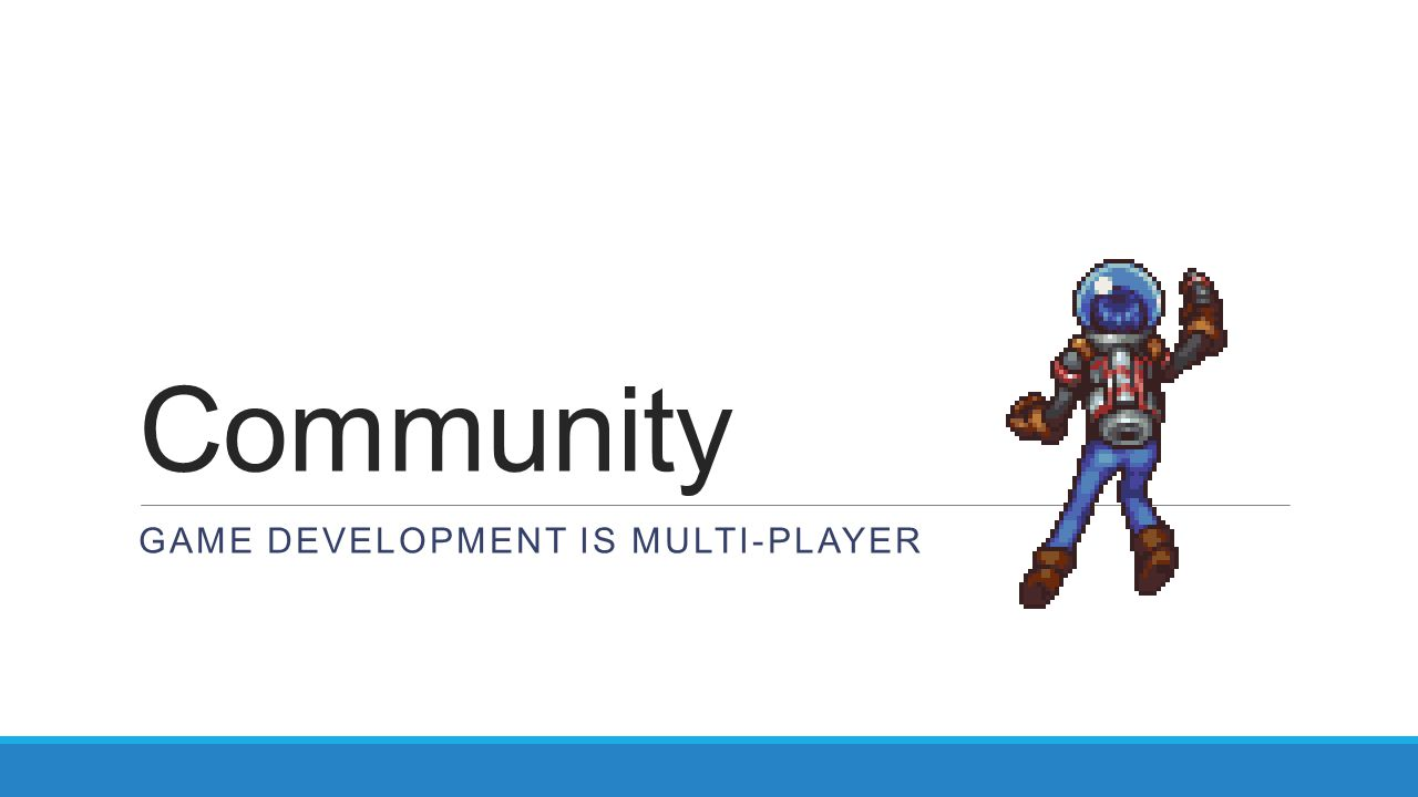 Community Game development is multi-player