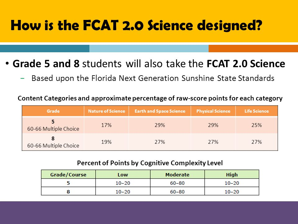 How is the FCAT 2.0 Science designed