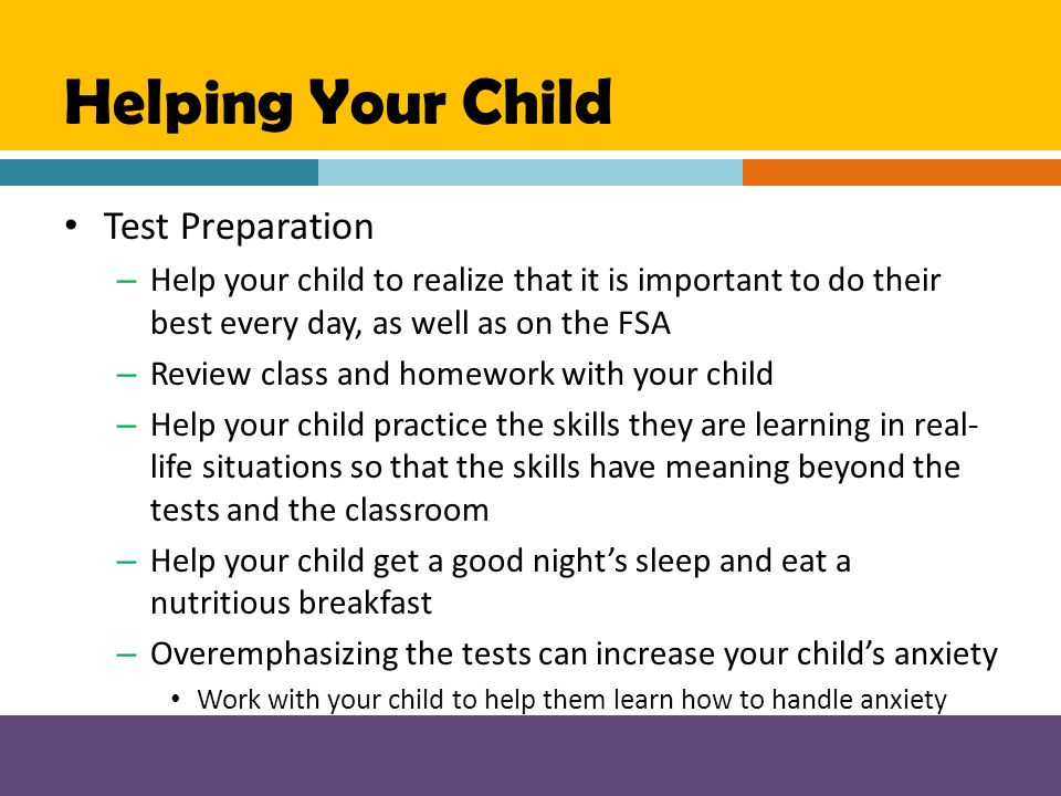 Helping Your Child Test Preparation