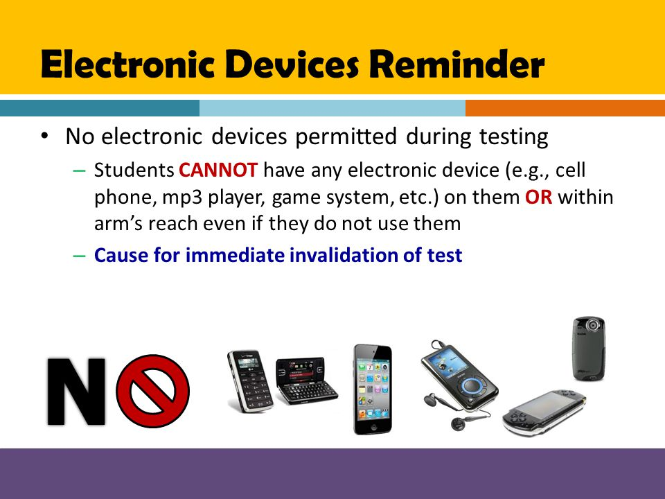 Electronic Devices Reminder