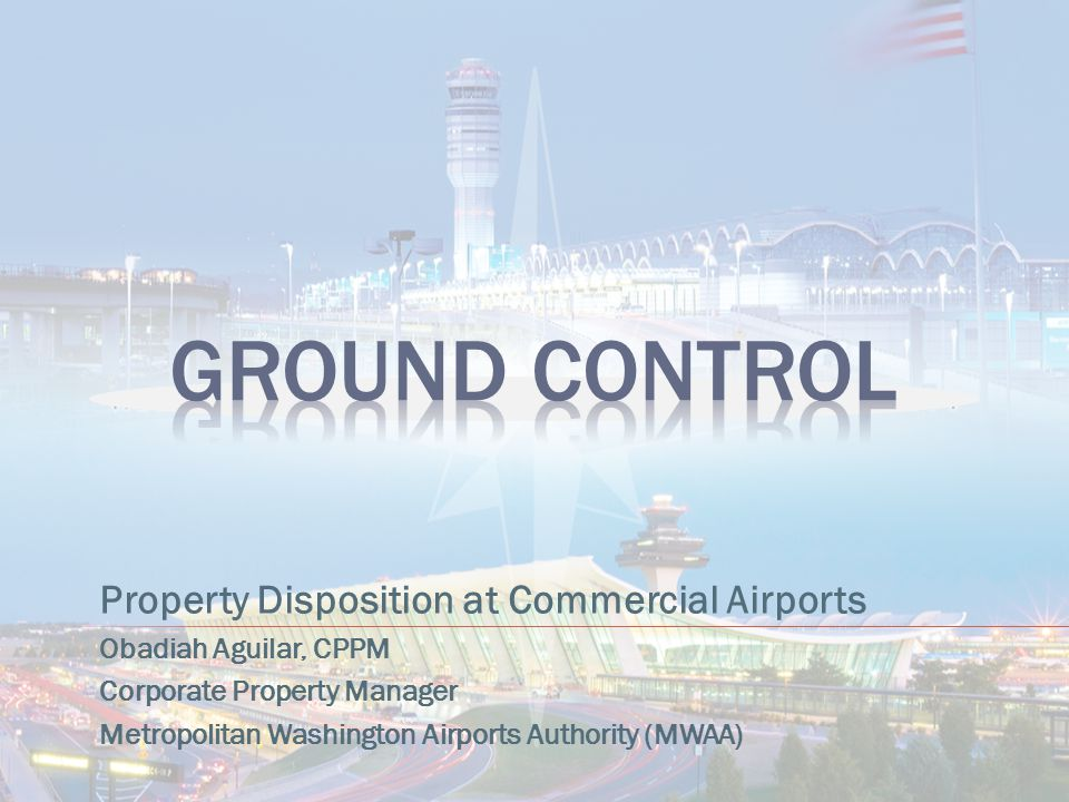Ground Control Property Disposition at Commercial Airports