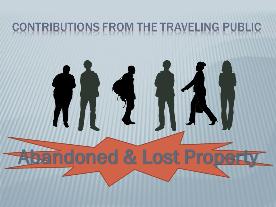 Contributions from the Traveling Public