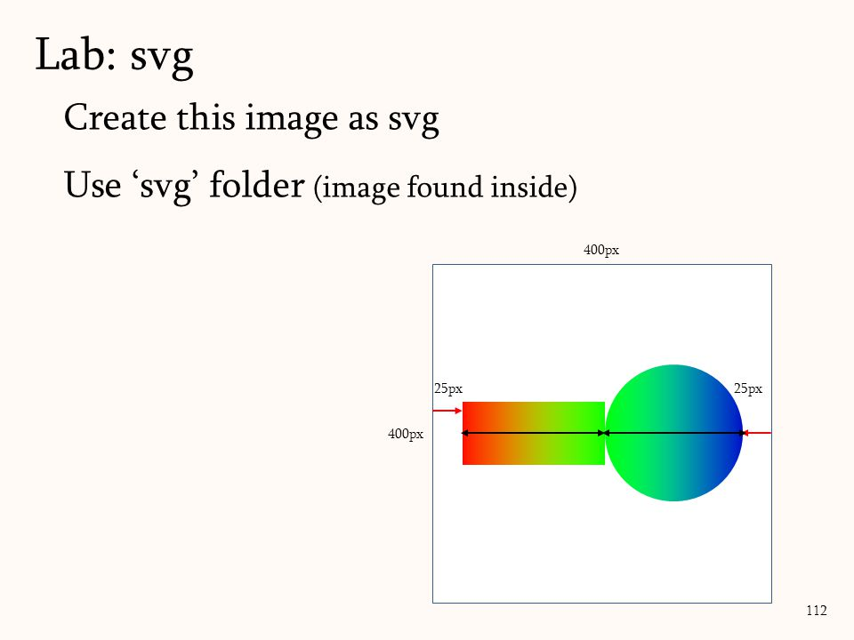 Lab: svg Create this image as svg