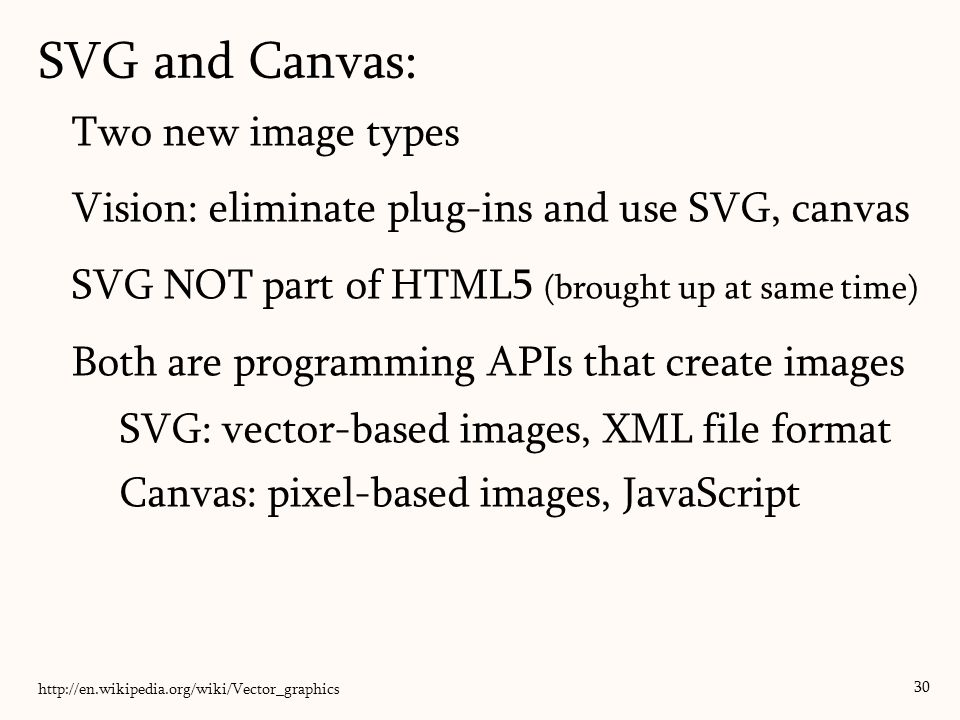 SVG and Canvas: Two new image types