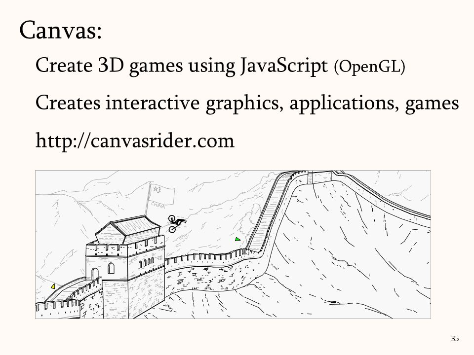 Canvas: Create 3D games using JavaScript (OpenGL)