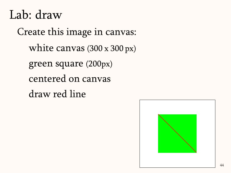 Lab: draw Create this image in canvas: white canvas (300 x 300 px)