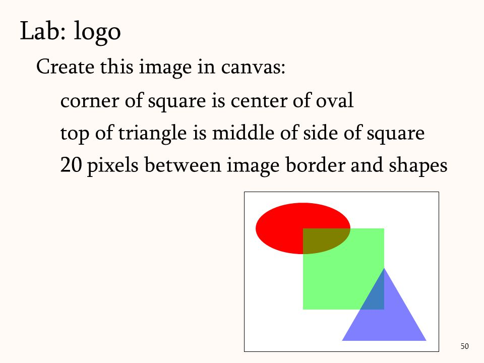 Lab: logo Create this image in canvas: