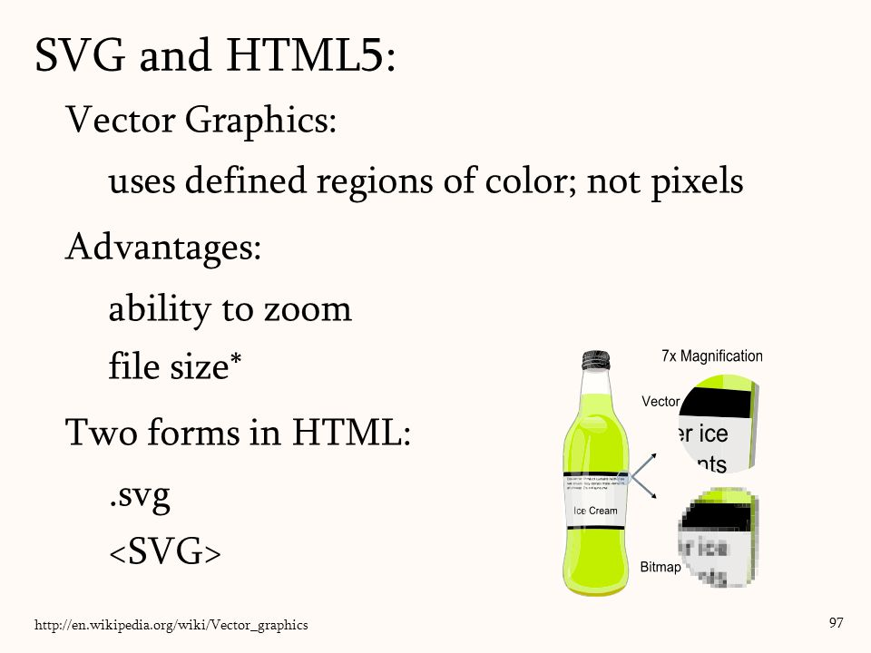 SVG and HTML5: Vector Graphics: