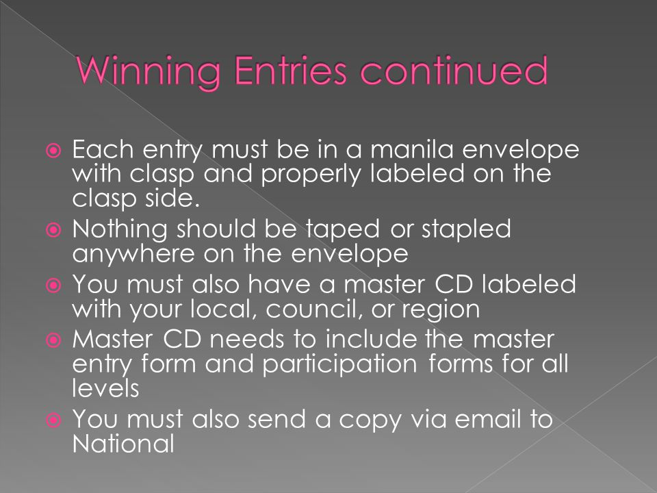 Winning Entries continued