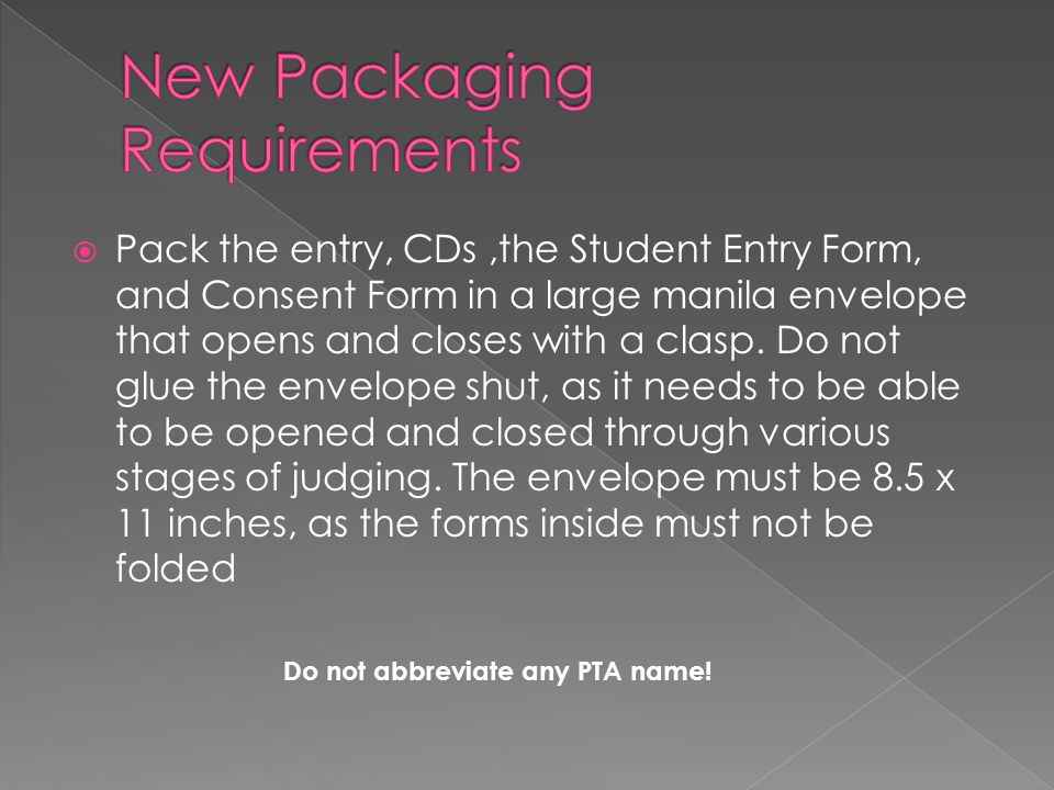 New Packaging Requirements