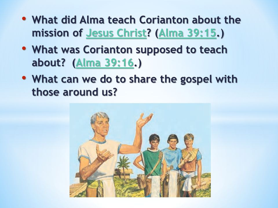 What did Alma teach Corianton about the mission of Jesus Christ