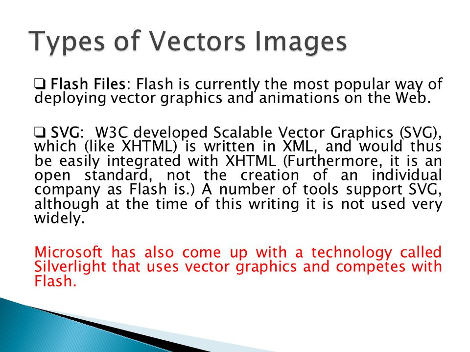 Types of Vectors Images