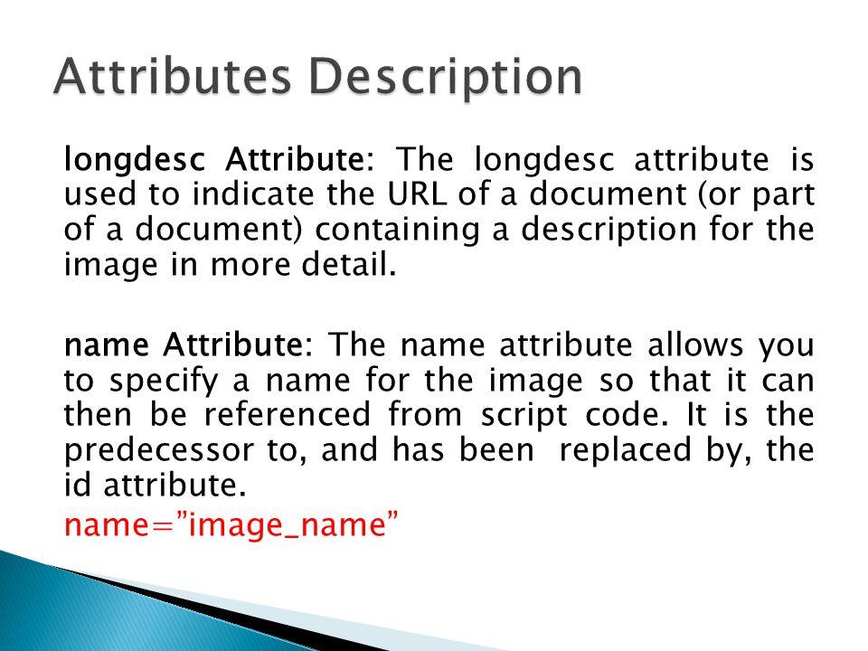 Attributes Description