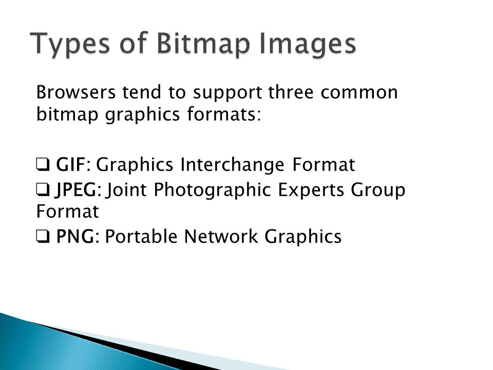 Types of Bitmap Images