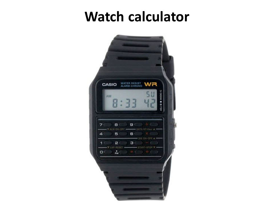 Watch calculator