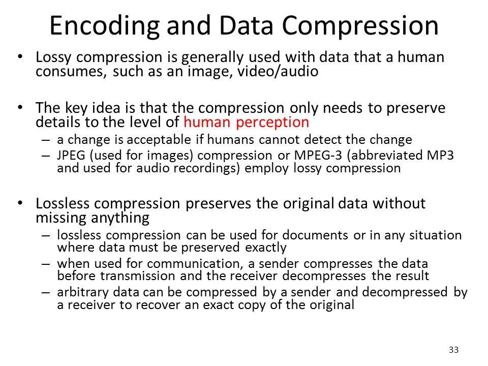 Encoding and Data Compression