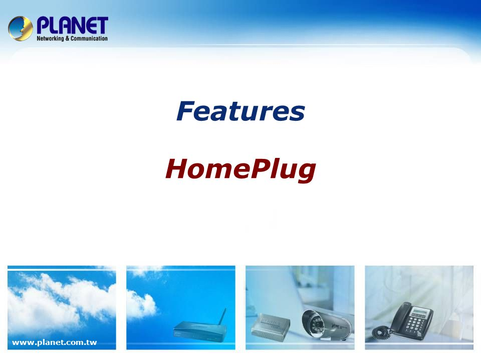 Features HomePlug