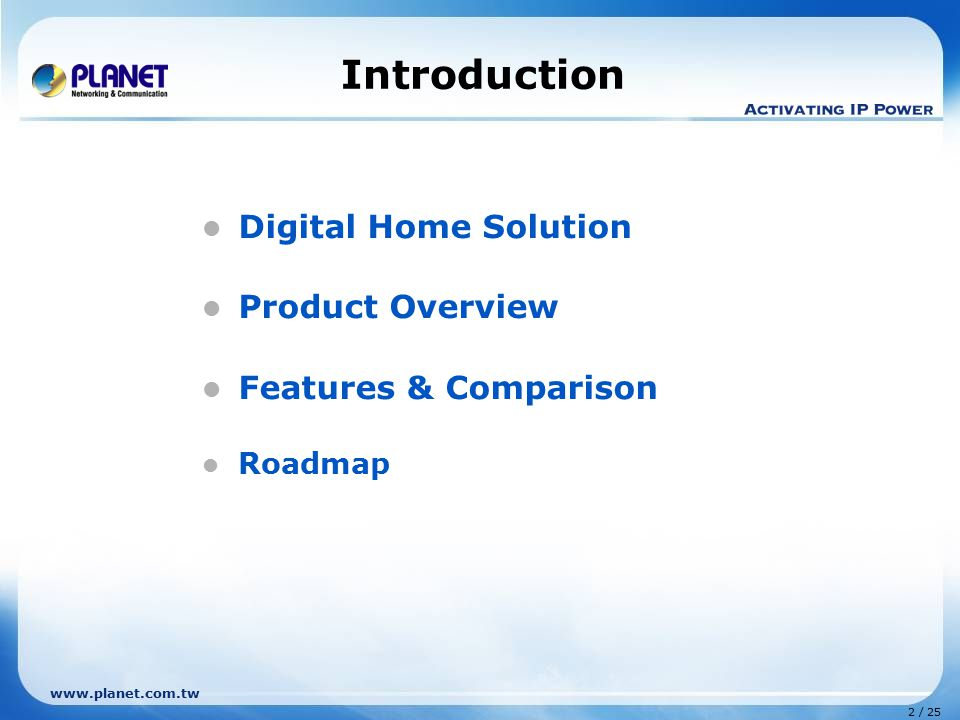 Introduction Digital Home Solution Product Overview