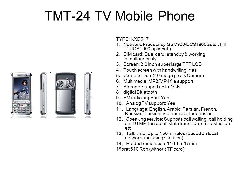 TMT-24 TV Mobile Phone TYPE: KXD017