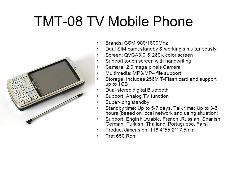 TMT-08 TV Mobile Phone Brands: GSM 900/1800Mhz
