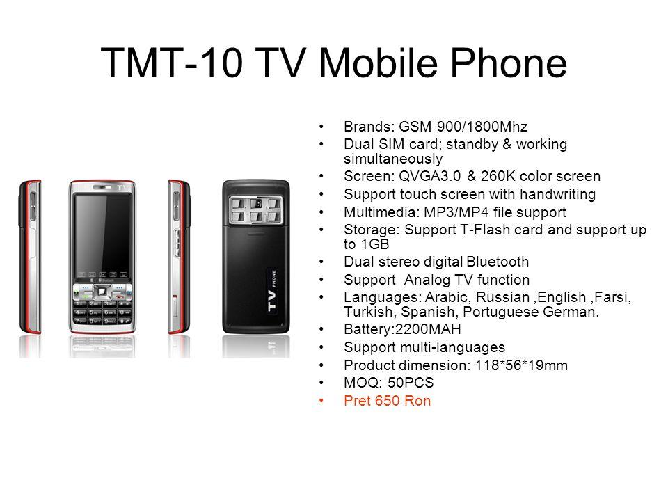 TMT-10 TV Mobile Phone Brands: GSM 900/1800Mhz