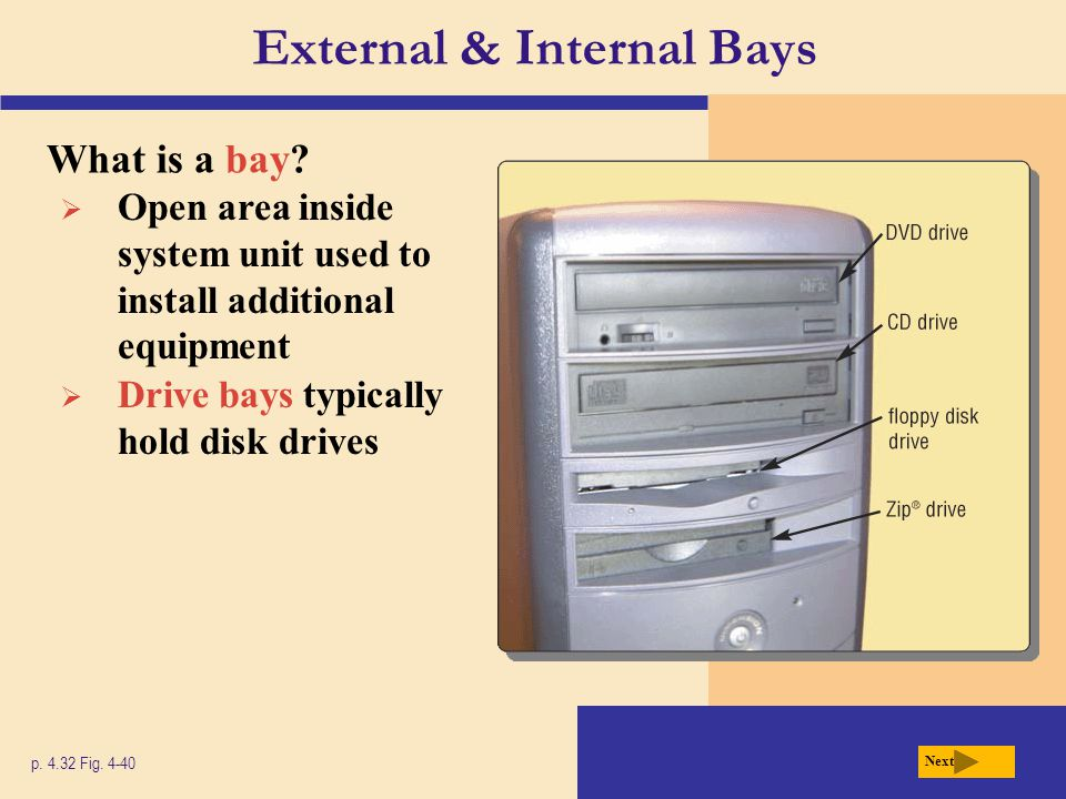 External & Internal Bays
