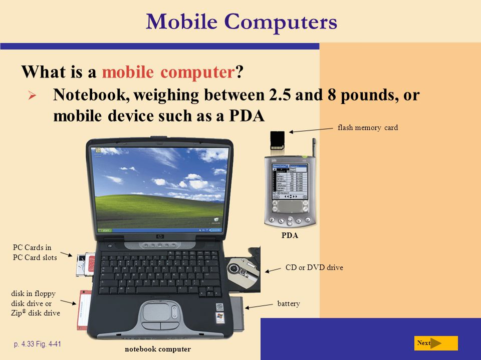 Mobile Computers What is a mobile computer