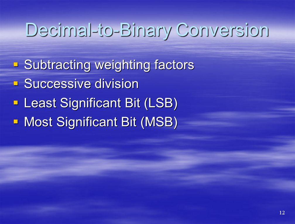 Decimal-to-Binary Conversion